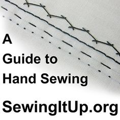 Sewing It Up! - A Guide to Hand Sewing (This will be great for lining crochet purses!!)