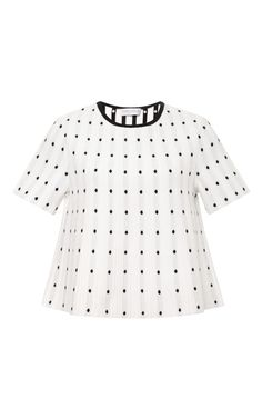 Frances White Dotted Knit Top by Tanya Taylor for Preorder on Moda Operandi