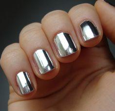 Silver+Chrome+Nail+Art+Wraps+Full+Nail+silver+by+SassyNailzIreland,+$2.85