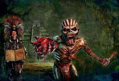 Two Iron Maiden S Extracted From the Digital ITunes Booklet wallpaper
