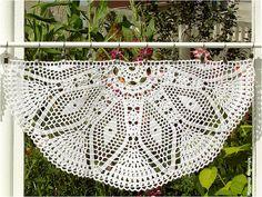 Crocheted Curtain  Dahlia by majontak on Etsy, $95.00