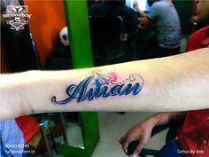 Name Tattoo #nametattoo #tattoosphere #tattoospheretattoostudio #wristtattoo #tattoo #surajmalvihar #eastdelhi #tattoolove #colouredtattoo #colour #colourtattoo #paperplane #watercolour #watercolourtattoo