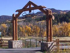 Rustic entrance Gates   Log Gate Posts http://www.greenleafforestry.com/greenleafroundwood ...