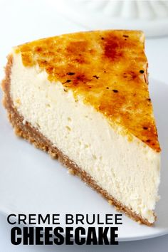 Calling all cheesecake fans! This Creme Brûlée Cheesecake is super creamy, super thick and absolutely to die for. If you want the show stopper dessert, this is it! #cheesecake #cremebrulee #desserts #sweets #recipes #tasty #cravings #hungry