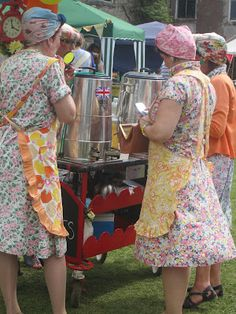 A Tea Lady's sole job was to provide tea & light snacks during the allocated work tea break.Enterering mainstream UK during WWII, the tea ladies were used to boost efficiency in workplaces for the war effort.They had such a positive effect on morale they became commonplace in all areas of work.They came round w/ a trolley, on which was a tea urn & selection of cakes & buns.Beginning in the late 70's, the profession began to die out due to catering,vending machines & higher paying jobs for…