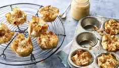 Super-quick mini apple pies with all the flavour and none of the faff. Another winner from Nadiya's Time to Eat. Nadiya Hussain Recipes, Apple Pie Recipes, Bbc Recipes, Speedy Recipes, French Apple Tart, Mini Apple Pies, Apple Tarts, Fresh Fruit Salad, Great British Bake Off