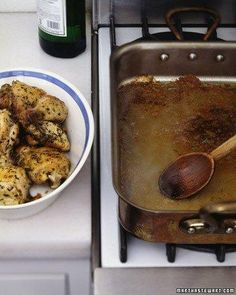 Roasted Herbed Chicken With Vermouth Pan Sauce Recipe
