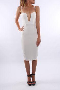 Milan Midi Dress White