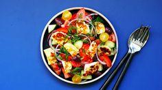 Gresk salat med halloumi