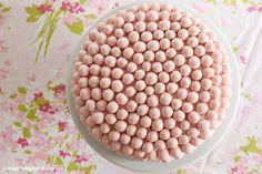 inspired by charm: Strawberry Malt Ball Cake