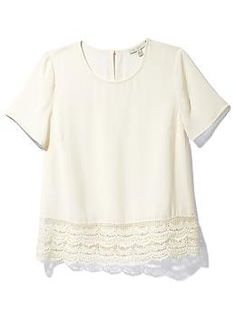 lace hem top / piperlime