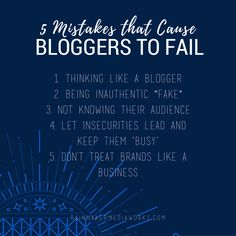 5 mistakes that cause bloggers to fail