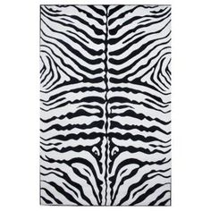 LA Rug Inc Supreme Zebra Skin Black and White 5 ft. 3 in. x 7 ft. 6 in. Area Rug-TSC 045 5376 at The Home Depot