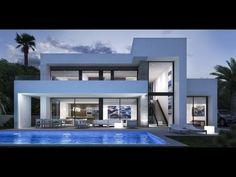 Nieuwbouw project van design villa in Moraira - Spanje Specials Sweet Home Design, Dream Home Design, Home Building Design, Building A House, House Outside Design, Modern Villa Design, Luxury Homes Dream Houses, Modern Mansion, Modern Architecture House