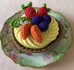 Crochet Food, Free Crochet, Knit Crochet, Teas 6, High Tea, Free Pattern, Knitting, Desserts, How To Make