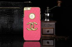 Chanel iphone 6 Round Hold Hard Back Cases Covers Rose Free Shipping - Deluxeiphone6case.com