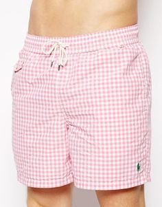 Polo Ralph Lauren Gingham Pink Swim Shorts