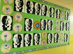 Positive/Negative Martin Luther King art activity