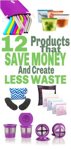 12 Reusable Products That Create Less Waste And Save You Money At The Same Time – The Clever Side – Finance tips, saving money, budgeting planner Save Money On Groceries, Save Your Money, Ways To Save Money, Savings Planner, Budget Planner, Money Saving Challenge, Money Saving Tips, Money Tips, Single Mom Jobs