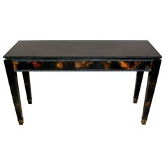 Console Table Wrapped with Horn
