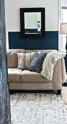 How To Make a Block Print Rug Using a Welcome Mat | Apartment Therapy... use that old rug in the garage....