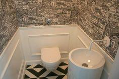 toaleta sztukateria + tapeta #gessi goccia #alape