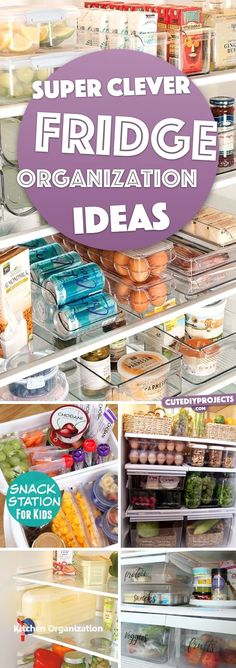 20 Super Clever Fridge Organization Ideas Nullifying All the Clutter – organization kitchen Small Refrigerator, Refrigerator Organization, Small Kitchen Organization, Clutter Organization, Diy Kitchen Storage, Diy Storage, Organization Ideas, Storage Ideas, Kitchen Hacks