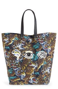 KENZO Print Nylon Tote Nylon Tote, Handbags On Sale, Large Tote, Kenzo, d23ffcf3ce