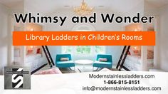 Discover the whimsy and wonder of library ladders when you check out this new presentation from ModernStainlessLadders.com  #modernlibraryladder #slidinglibraryladder #libraryladders #rollinglibraryladder