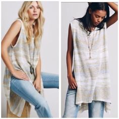 ️Oversized Loose Knit    Free People Knit Free people light weight tunic pullover great piece to add to your wardrobe nwt . Great with leggings and denim or over a skirt . Free People Sweaters