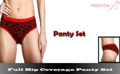 Get flat 50% OFF on Full Hip Coverage Panty Set. Shop Online now www.prestitia.co.in/details/full-coverage-panty-set-in-red.html
