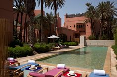Relax by the swimming pool this half term at Royal Mansour Marrakech