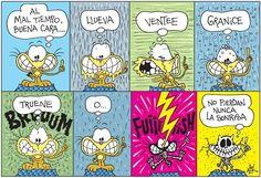 Voici un document qui va être bien utile pour apprendre à exprimer le temps qu'il fait. Merci Gaturro! Spanish Jokes, Ap Spanish, Spanish Lessons, Learn Spanish, Spanish Classroom, Teaching Spanish, Classroom Ideas, Vocabulary List, Weather And Climate