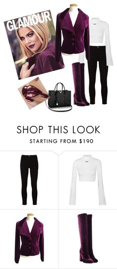 """""""Untitled #828"""" by tammydevoll ❤ liked on Polyvore featuring Frame, Off-White, MaxMara and Laurence Dacade"""