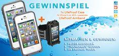 GEWINNSPIEL!  Passend zur heißen Jahreszeit gibt es diese coolen Sommer-Gadgets zu gewinnen:   1x LifeProof Case FRE für iPhone 5 oder LifeProof Case für iPhone 4S/4 + 1x das passende LifeProof Armband/Schwimmband  Deshalb im Gewinnspiel-App mitmachen, Beitrag teilen und schon bist du mit dabei: http://www.sq-apps.de/w.php?w=3793692