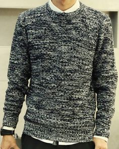 $15.87 Woolen sweater in black and white.