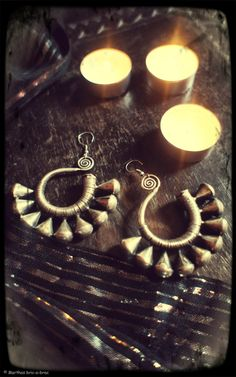 Tribal Miao Earring for small ear piercing or by Marthasbricabrac, $30.00