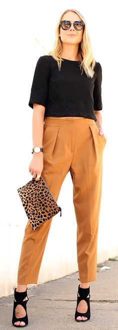 how to style tailored trousers