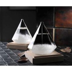 Diamond Shape Storm Glass Weather Forecast Bottle