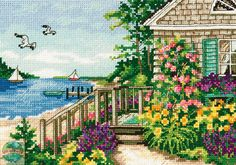Gold Collection - Bayside Cottage - CrossStitchWorld