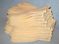 Exfoliating Bath Mitts THREE PACK Shower Gloves Massage