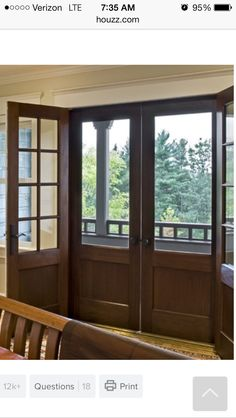 Beautiful Double Front Entry Screen Doors