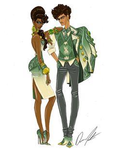 ….*☆.¸.☆*' ….*☆.@@ ☆*' .*☆.@@@@☆*' ….@@@@@@ …☆*@@@@`*☆.¸¸ …….\\\||///. ……..\\||//. ………ƸӜƷ. ♥ ♥\|/..♥♥ ♥ ♥♥Disney Royals, Tiana and Naveen by Daren J