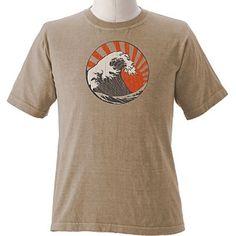 "T-shirt - Lerfärgad ""vintage wave""   LotusEco eko&reko kläder"