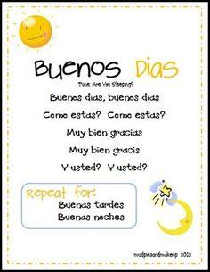 Mudpies and Make-up: Spanish Circle Time Printables {FREE!}