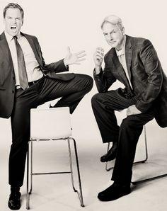 I love these two Jethro Gibbs (Mark Harmon) Anthony DiNozzo (Michael Weatherly) #ncis