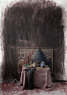 Peter Jacobi, Still Life with artifacts from Transylvania with the photography of a rye and a bronze crucifixion study, 2015, Digigraphie, 50x70cm.jpg
