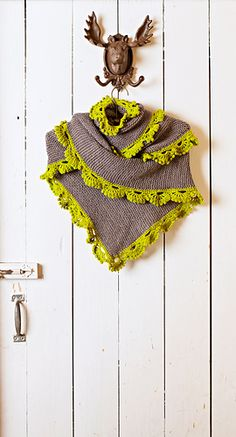 Chill Chaser shawl..love the crocheted edge