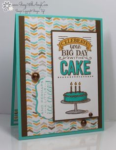 Stampin' Up! Big Day Masculine Birthday Card