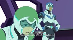 """Pidge not impressed with Lance's """"leadership."""" from Voltron Legendary Defender Voltron Force, Steven Universe Funny, Form Voltron, Avatar Airbender, She Ra Princess Of Power, Cartoon Art Styles, Legend Of Korra, Paladin, S Man"""
